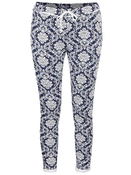 Bílo-modré vzorované teplákové kalhoty Haily´s Jada
