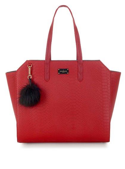 Červená kabelka s hadím vzorom Paul's Boutique Ally