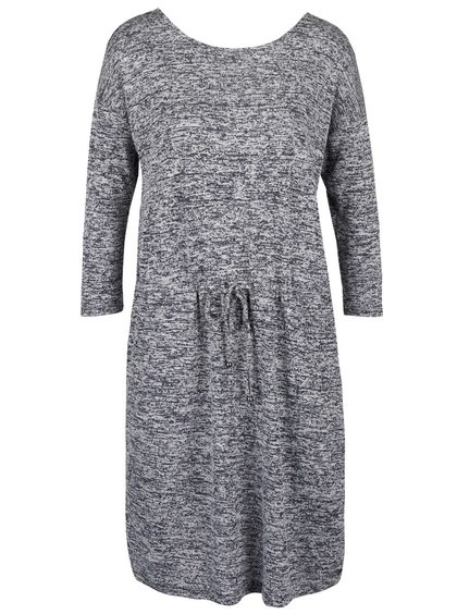 Modré dámske melírované svetrové šaty s vreckami s.Oliver