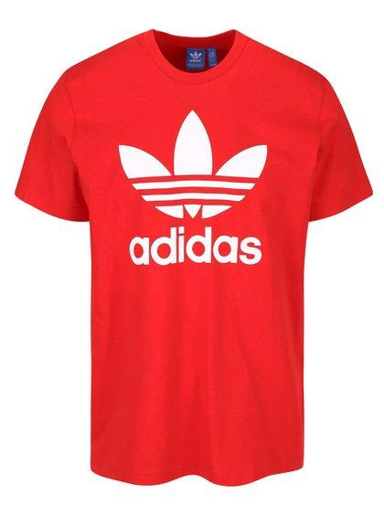 Tricou roșu adidas Originals cu logo