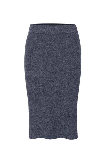 Modrošedá dlouhá pletená sukně VILA Olympa