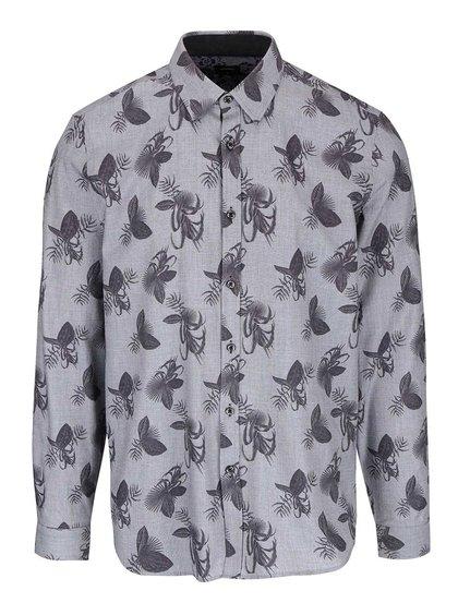 Cămașă gri Burton Menswear London cu imprimeu floral