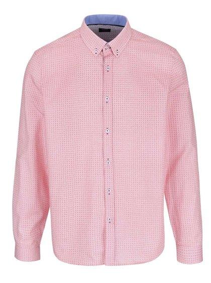 Cămașă roz Burton Menswear London cu imprimeu