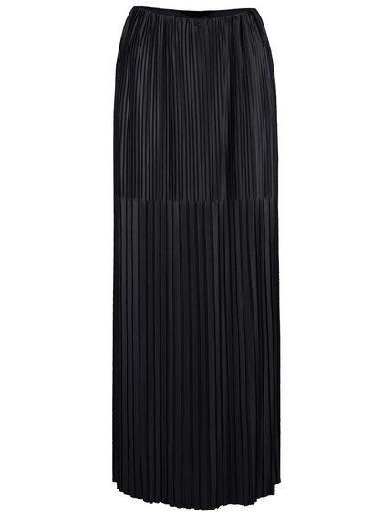 Černá plisovaná maxi sukně Miss Selfridge