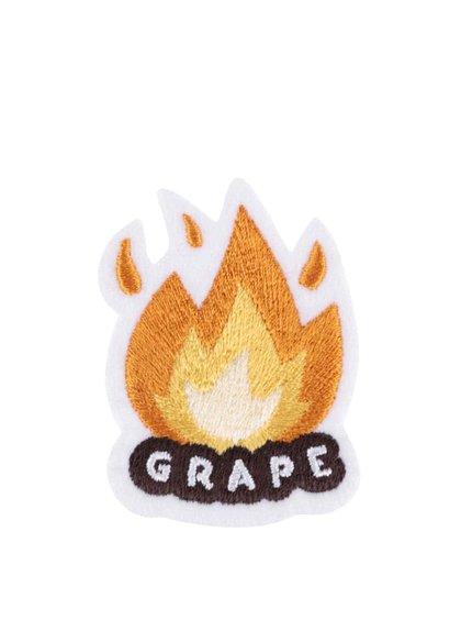 Nažehľovacia výšivka v tvare ohňa Grape