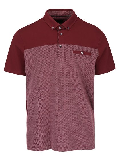 Tricou polo grena Burton Menswear London
