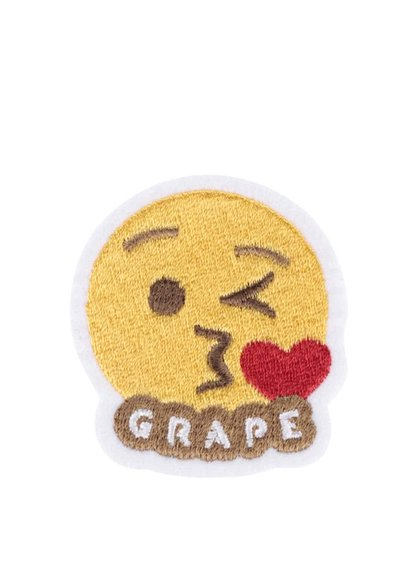 Nažehľovacia výšivka v tvare smajlíka Grape