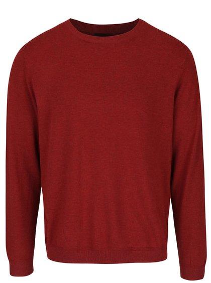 Bluză cu mânecă lungă Burton Menswear London grena