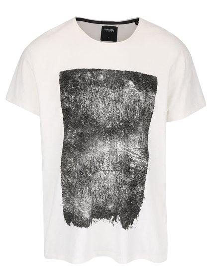 Tricou crem Burton Menswear London cu imprimeu