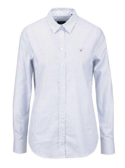 Biela dámska košeľa s drobným vzorom GANT