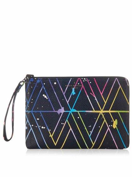 Černé oboustranné psaníčko s barevným vzorem Paul's Boutique Mini Fleur