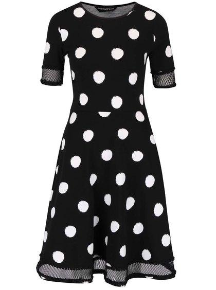 Černé šaty s bílými puntíky Dorothy Perkins