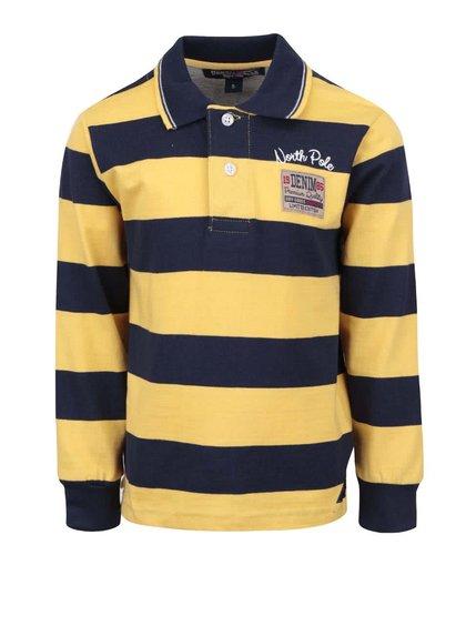 Bluză polo albastră & galbenă North Pole Kids din bumbac pentru băieți