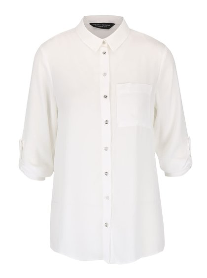 Krémová košeľa s 3/4 rukávmi Dorothy Perkins