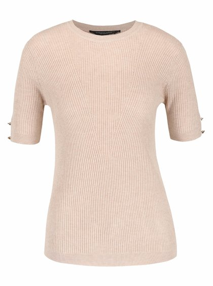 Béžový svetr s krátkým rukávem Dorothy Perkins