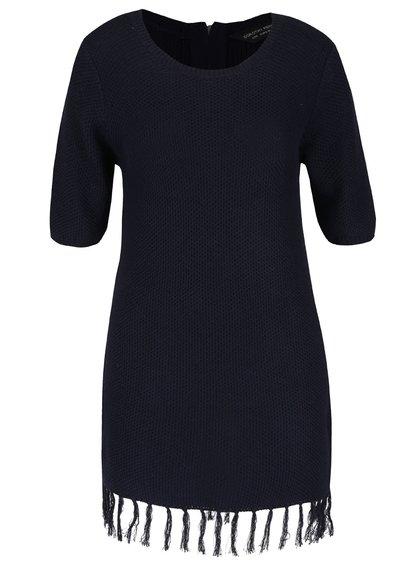 Bluză bleumarin Dorothy Perkins cu franjuri