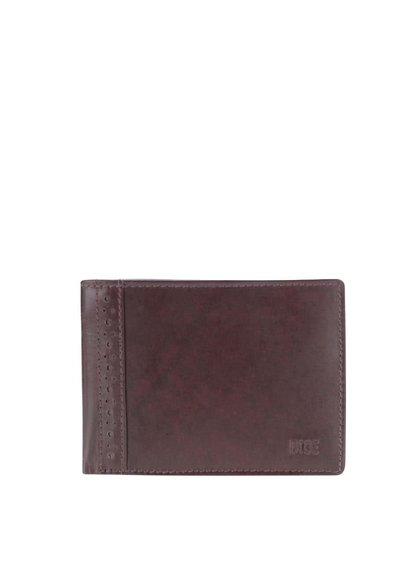 Tmavohnedá kožená peňaženka Dice Stenet
