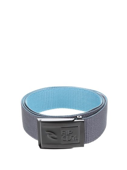 Šedý pánský pásek Rip Curl Ripper Revo Webbed Belt