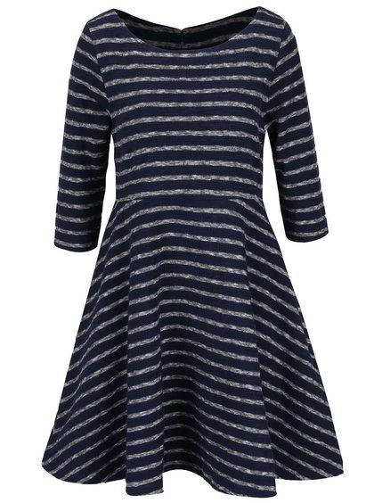 Šedo-modré pruhované šaty Brakeburn Jaquard Stripe
