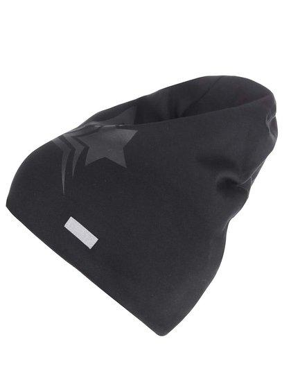 Čierna chlapčenská čiapka s potlačou hviezdy name it Moppy