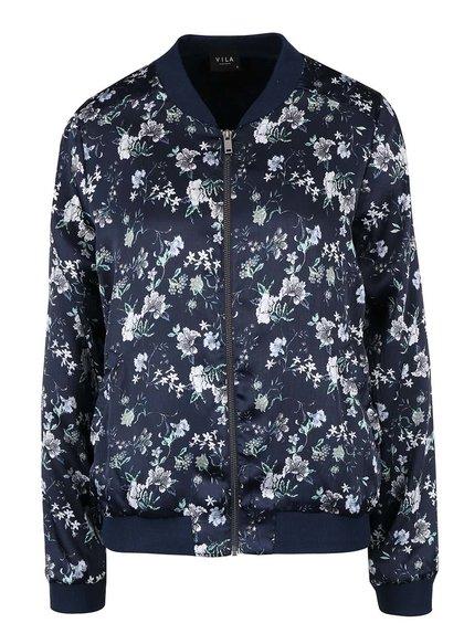 Jachetă bomber cu imprimeu VILA Plinny bleumarin