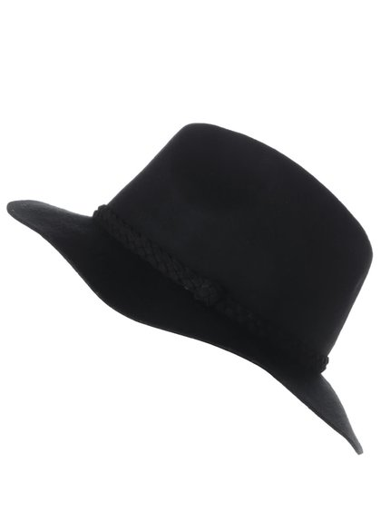 Pălărie neagră VERO MODA Dana cu accesoriu împletit