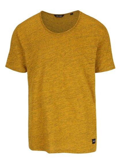 Žluté žíhané triko ONLY & SONS Albert