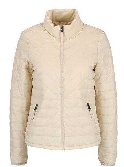 Jachetă crem Vero Moda Fine matlasată