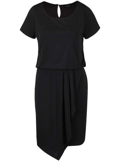 Rochie neagră asimetrică VILA Palli