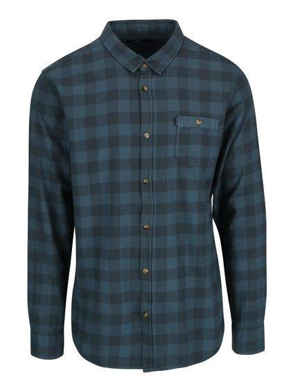 Modrá kockovaná pánska košeľa Rip Curl Check IT LS