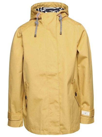 Hořčicová dámská nepromokavá bunda s kapucí Tom Joule Coast