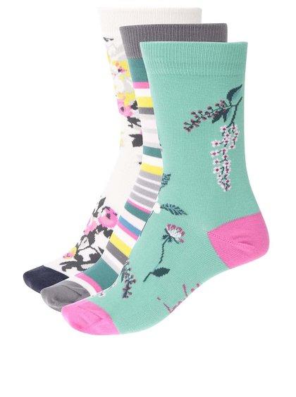 Súprava troch farebných dámskych ponožiek z bambusu Tom Joule Brill