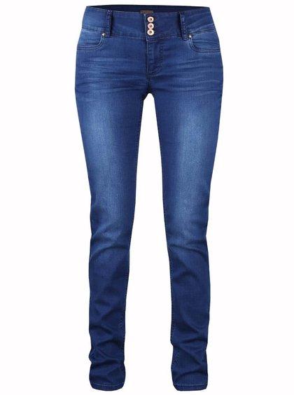 Modré dámské džíny s vysokým pasem Cars Abigail
