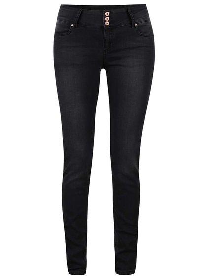 Černé dámské džíny s vysokým pasem Cars Abigail