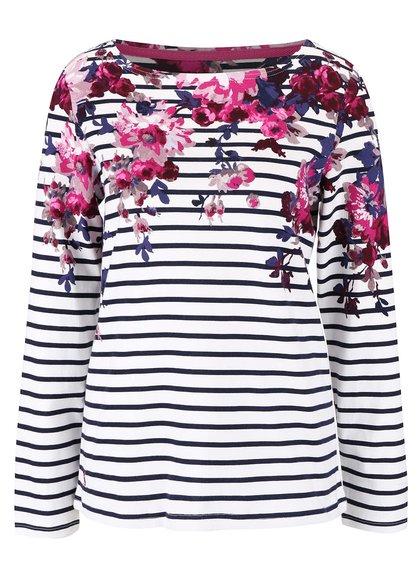 Krémové dámské pruhované tričko s květinovým potiskem Tom Joule Harbour