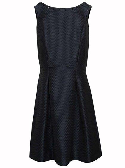 Tmavomodré vzorované šaty Wolf & Whistle