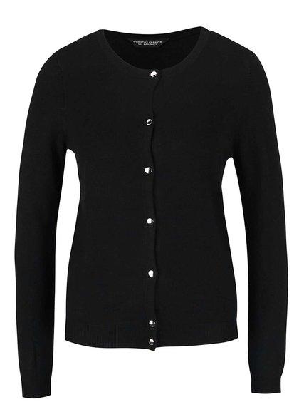Čierny sveter s lesklými gombíkmi Dorothy Perkins