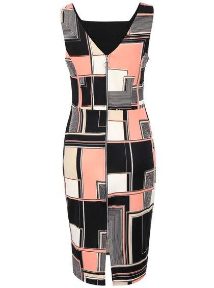 Růžovo-černé šaty se vzorem Dorothy Perkins