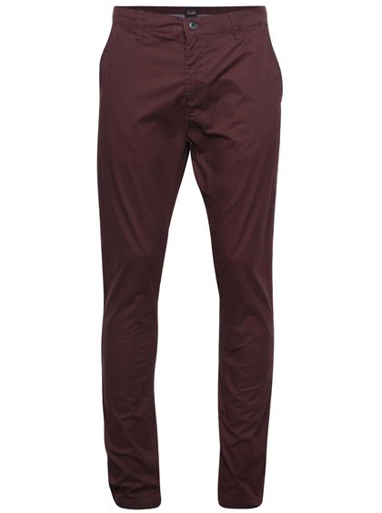 Vínové chino kalhoty !Solid Joy Crisp