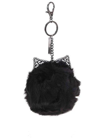 Čierna kľúčenka v tvare mačky ALDO Ediesa
