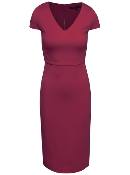 Rochie bodycon French Connection Lula vișinie