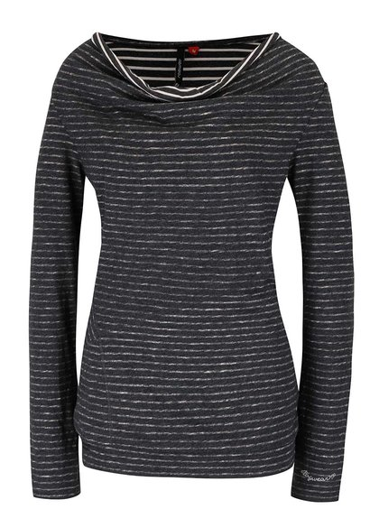 Sivé dámske žíhané voľnejšie pruhované tričko Ragwear Yolanda