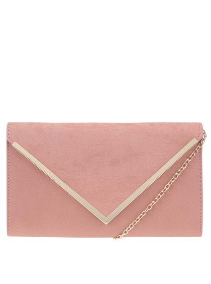 Ružová listová kabelka s klopou v semišovej úprave ALDO Varina