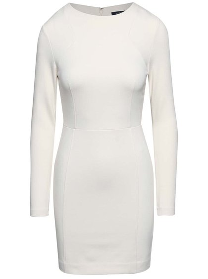 Krémové minimalistické šaty French Connection Lula
