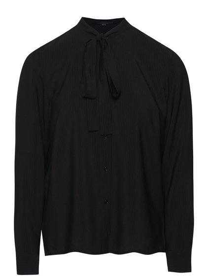 Černá košile s vázankou French Connection Pippa
