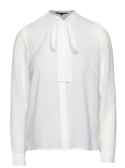 Biela košeľa s viazankou French Connection Pippa