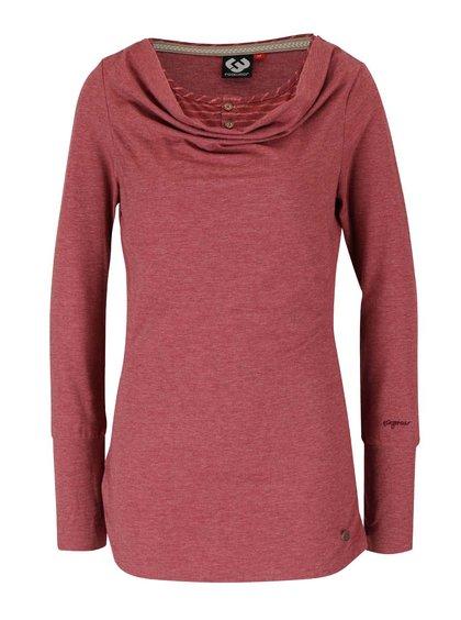 Bluză roșie Ragwear Zimt cu decolteu răsucit