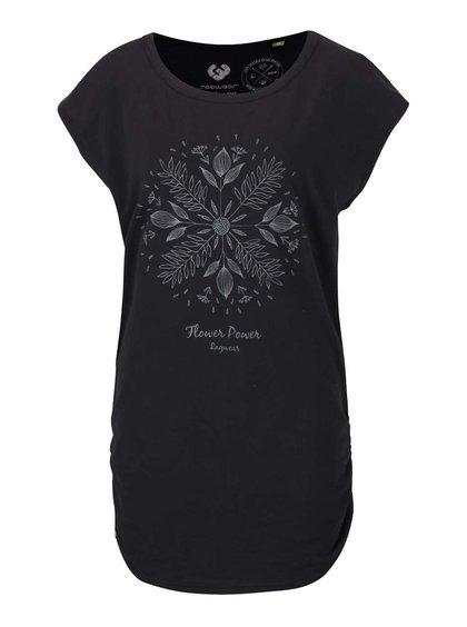 Čierne dámske dlhšie tričko Ragwear Coffe Organic