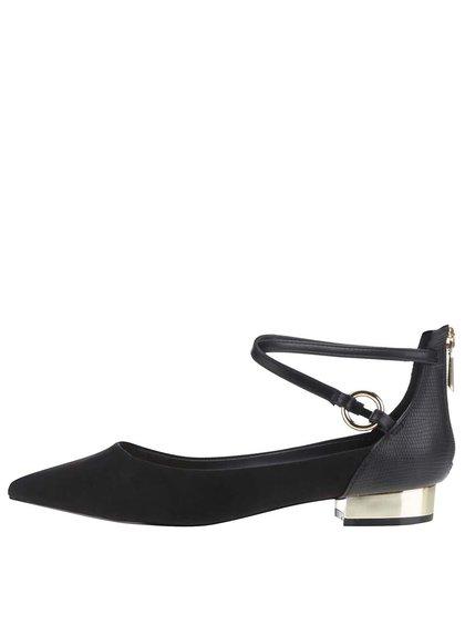 Čierne dámske sandále so špičkou v semišovej úprave ALDO Biacci