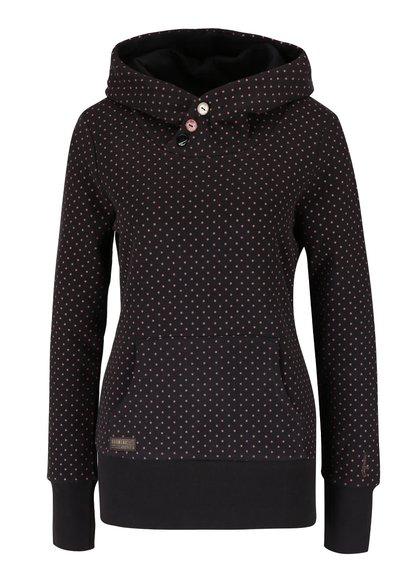 Hanorac negru Ragwear Chelsea Dots cu buline